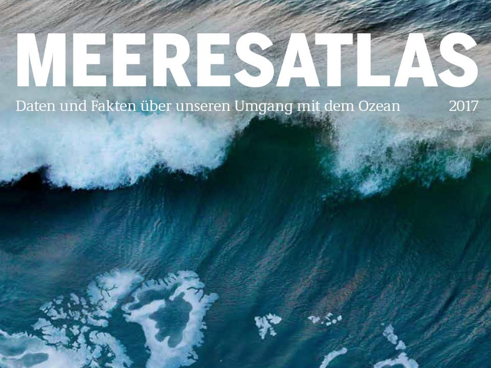 Ausschnitt der Titelseite des Meeresatlas 2017
