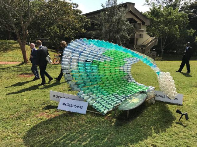 UNEA 2017: Kunstwerk aus Plastik